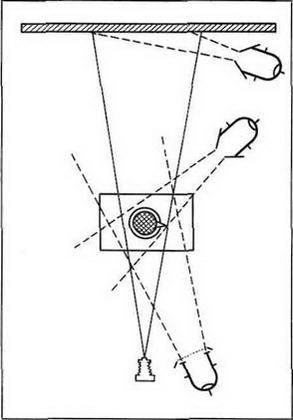 Схема света с использованием