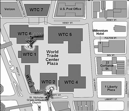 Схема расположения зданий