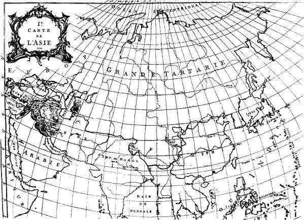 Прямо на карте восемнадцатого века