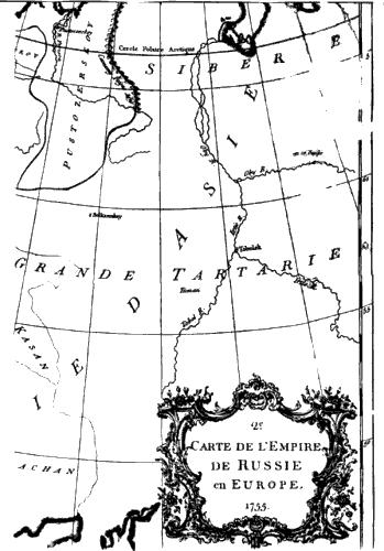 А вот еще одна карта xviii века l asie dresse