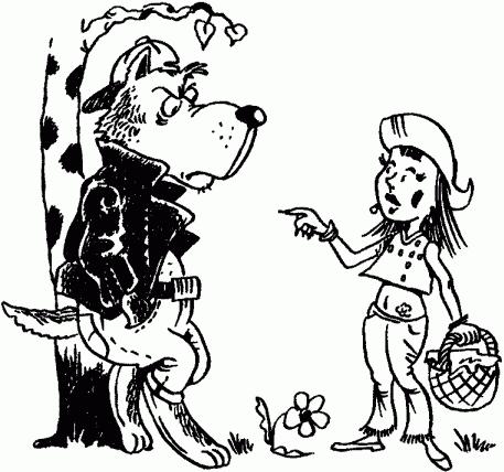 рисунок волк из сказки красная шапочка