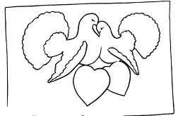 Как нарисовать красивую открытку на свадьбу 57